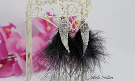 Boucles d'oreilles «Black Wings»