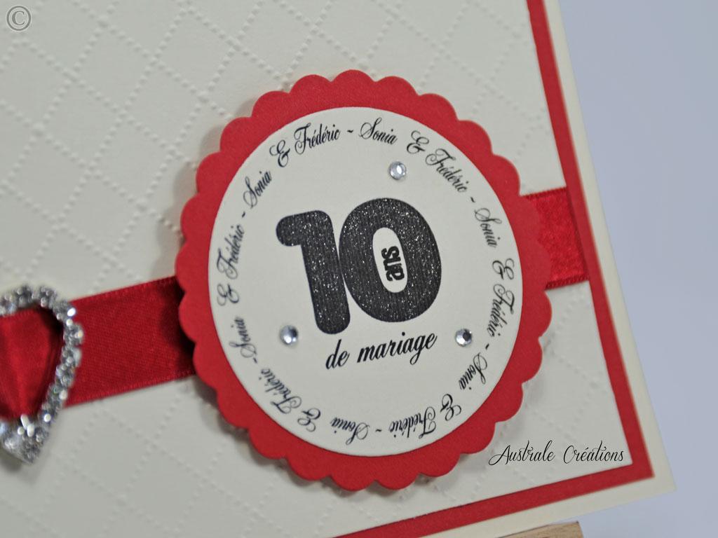 Carte d'invitation pour anniversaire de mariage