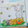 Carte Bunny in egg
