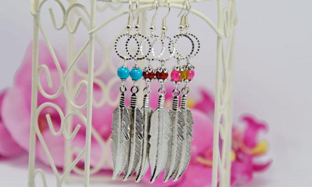 Boucles d'oreilles «Feather»