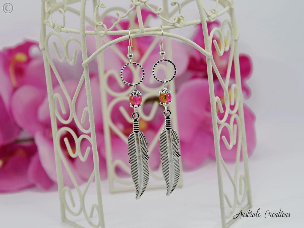 Boucles d'oreilles Feather