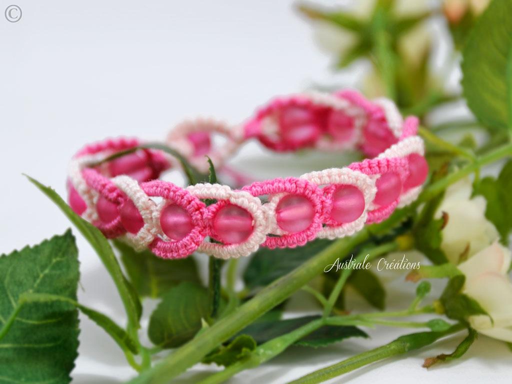 Bracelet Intertwining Rose