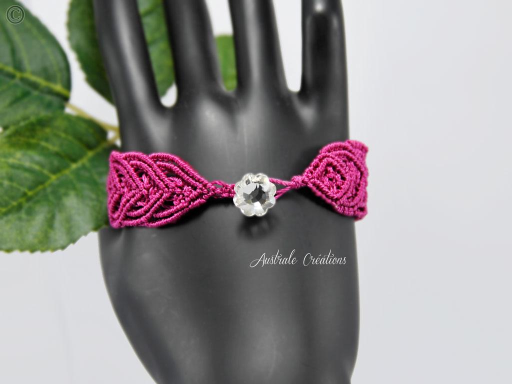 Bracelet Macramé Hearts