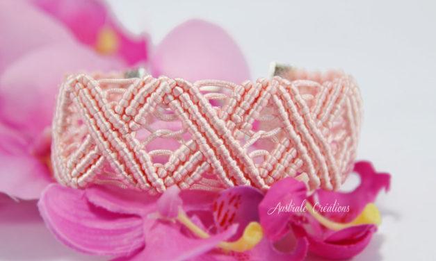 Bracelet «Wavy» en Rose