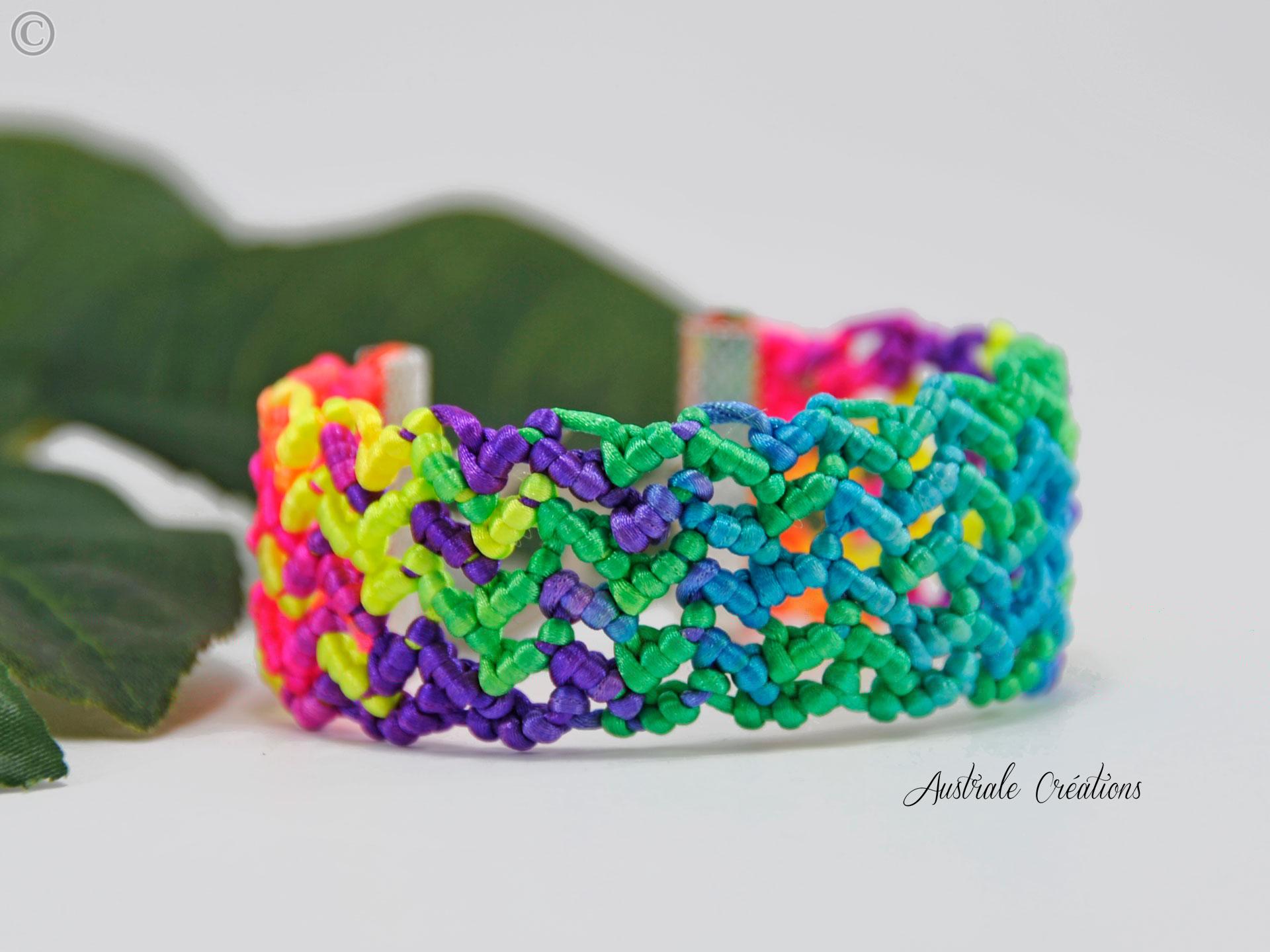 Bracelet Zig Zag Wave Fluo