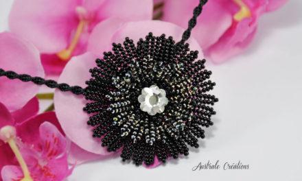 Collier «Flower» – Ma participation à l'atelier de Perles Dent'elles