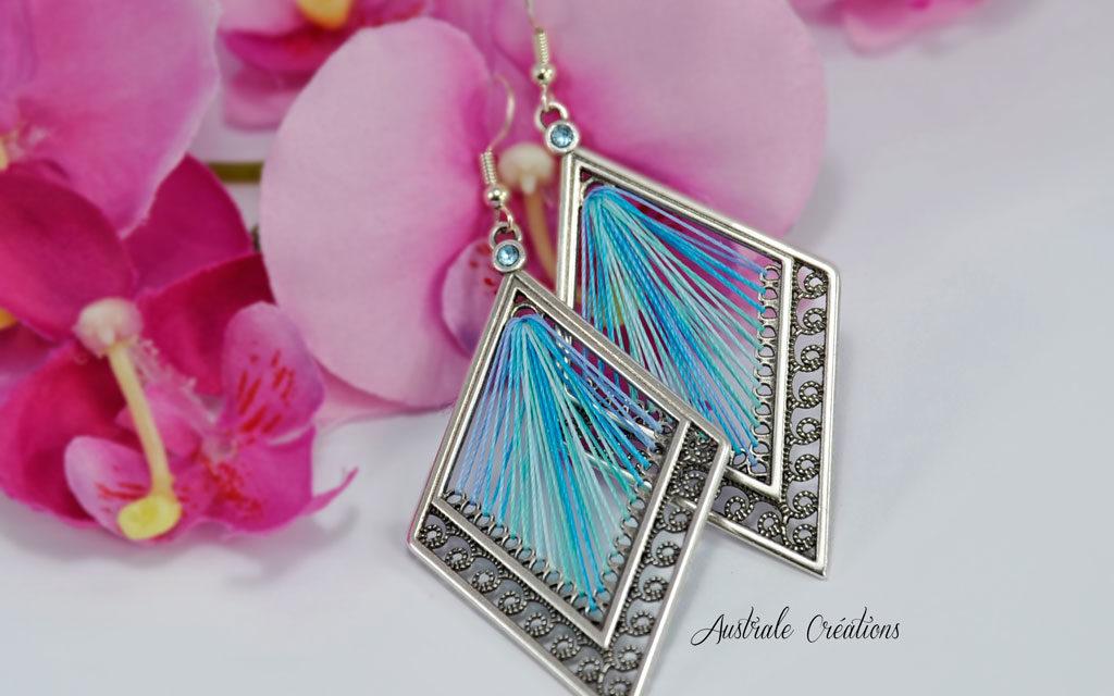 Boucles d'oreilles «Caribbean Blue»