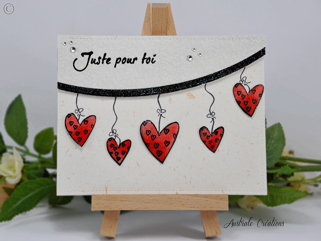 Carte Coeurs en Fête