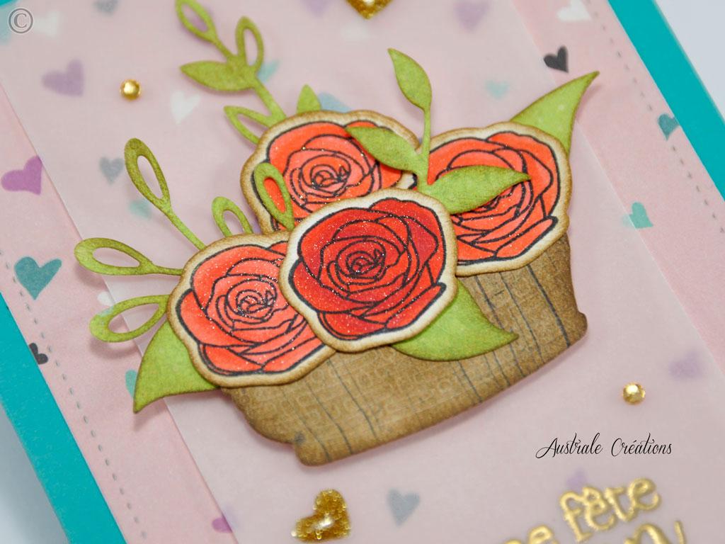 Carte : Panier de Roses