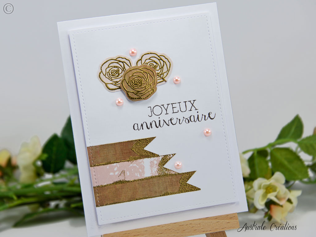 Carte Perles de Roses