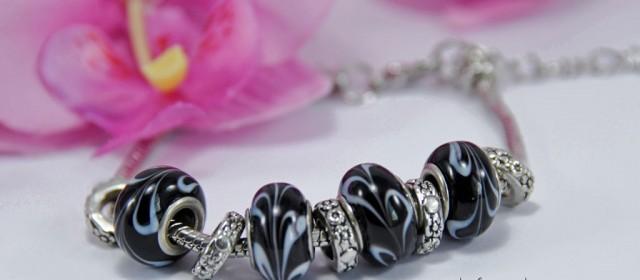 Bracelet «Australa» en Noir et Blanc