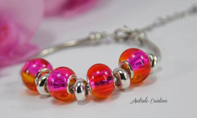 Bracelet «Australa» en Rose Orangé