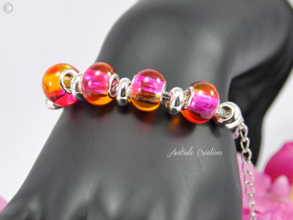 Bracelet L'Australa en rose orangé