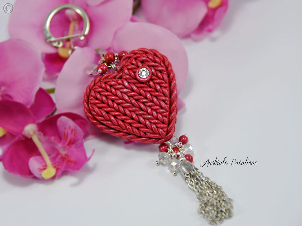 Porte clé Knitted Heart