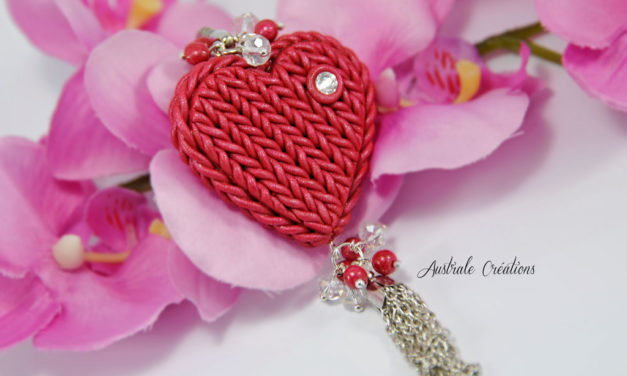 Porte clé « Knitted Heart »