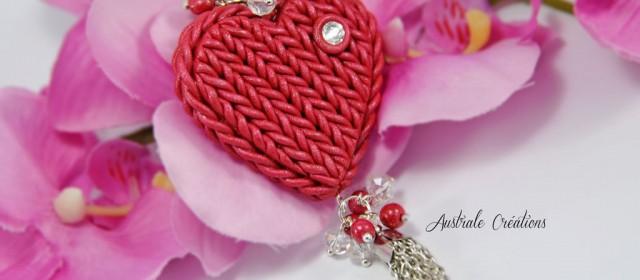 Porte clé «Knitted Heart»