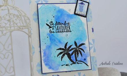 Carte : Les Vacances – Ma participation au concours Scrapmalin