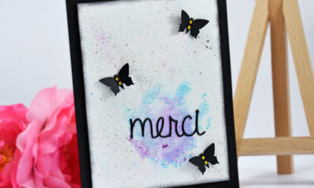 Carte Aquarelle : Merci !
