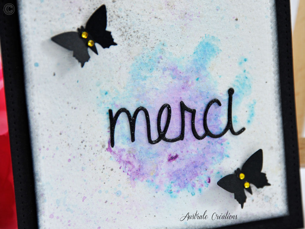 Carte aquarelle Merci