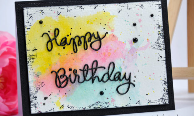 Carte : Colors Birthday