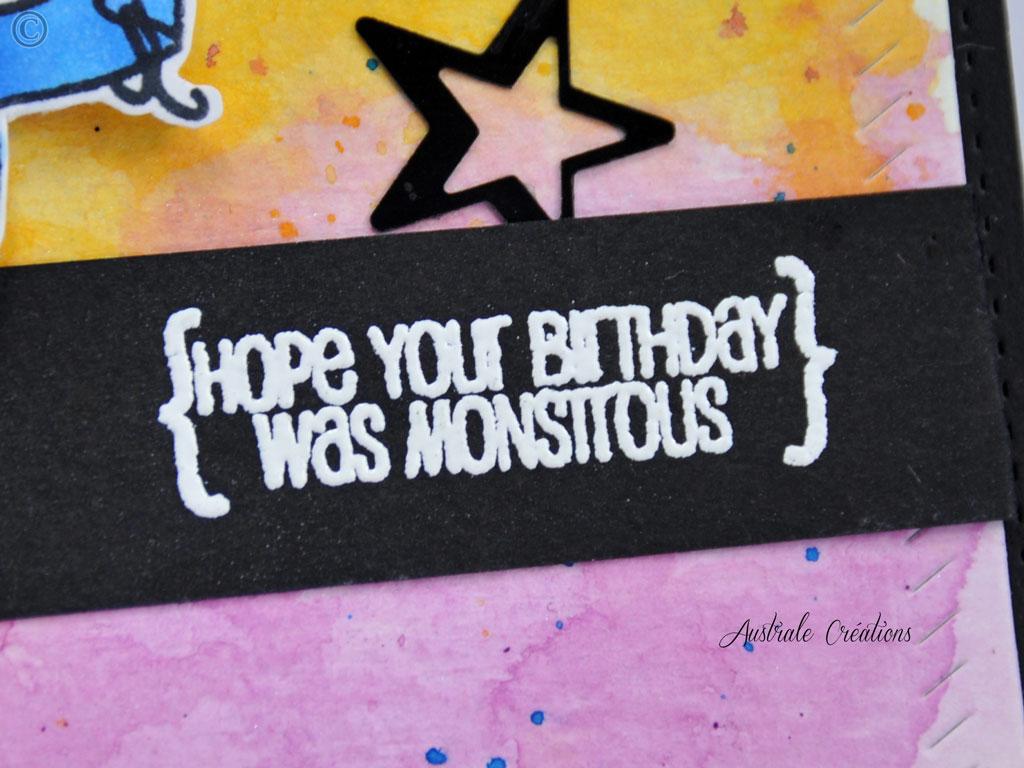 Carte Monstruous Birthday