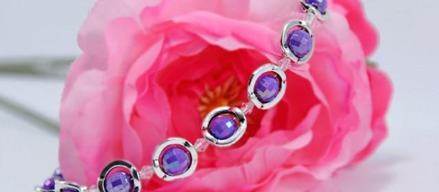 Bracelet «Purple Saturn»