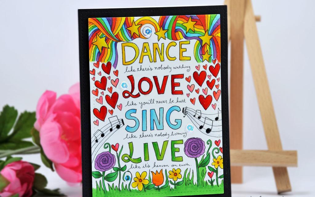Carte : Dance Love Sing Live