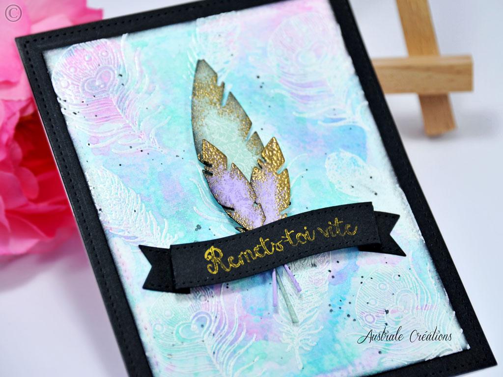 Carte Lavender Feather