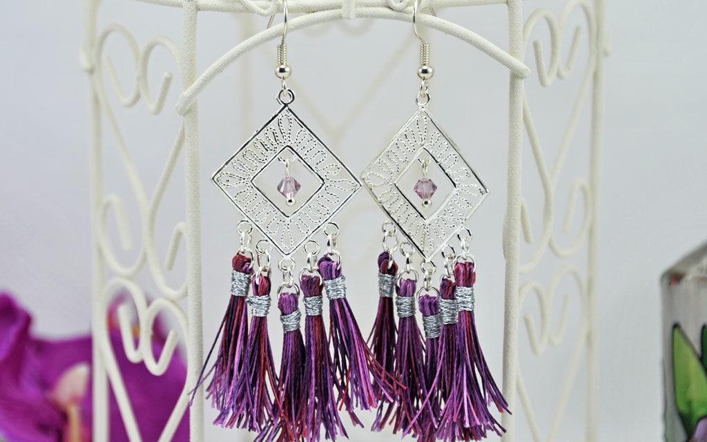 Boucles d'Oreilles «Passiflora»