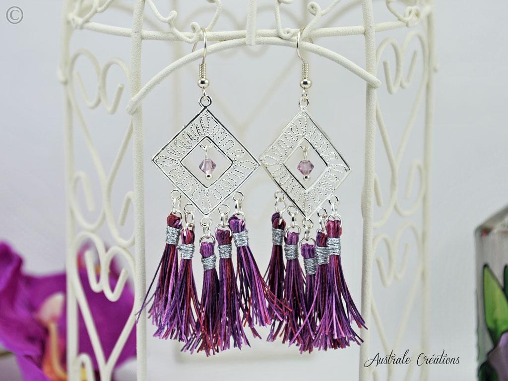 Boucles d'Oreilles Passiflora