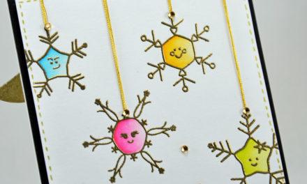 Carte : Smiling Snowflakes