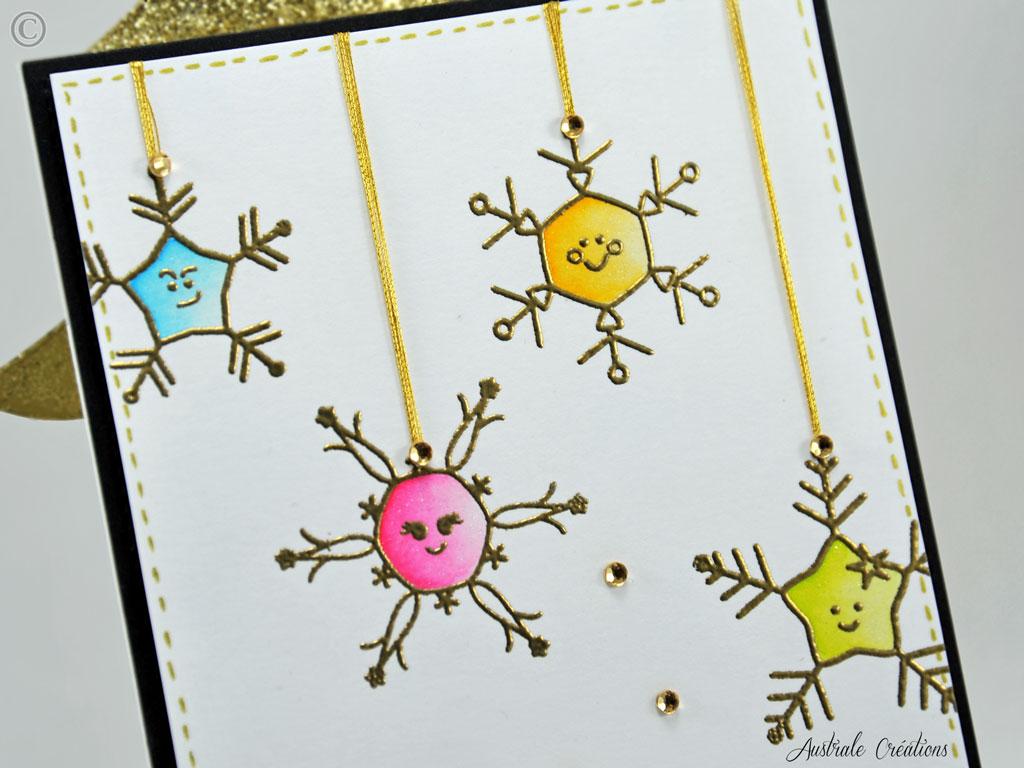 Carte Smiling Snowflakes