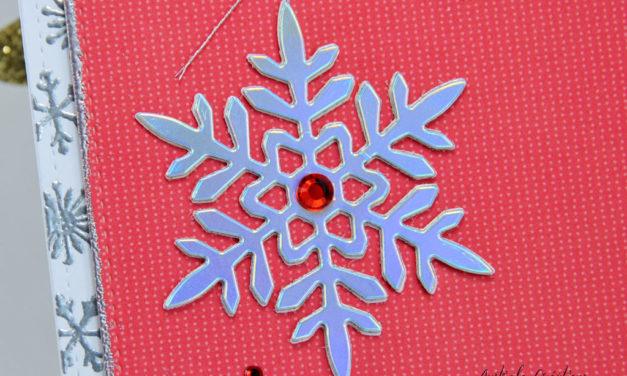 Carte : Silver Snowflakes