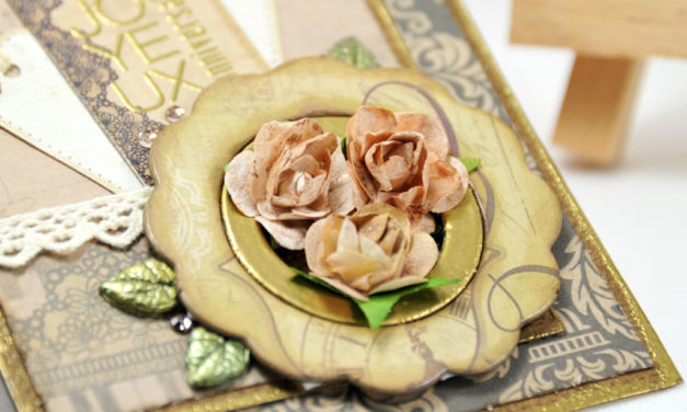 Carte : Vintage Flowers