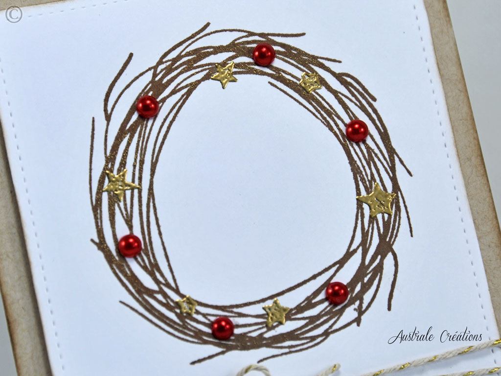 Carte Holiday Wreath
