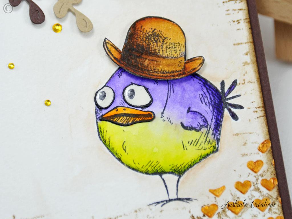 Carte Vintage Bird