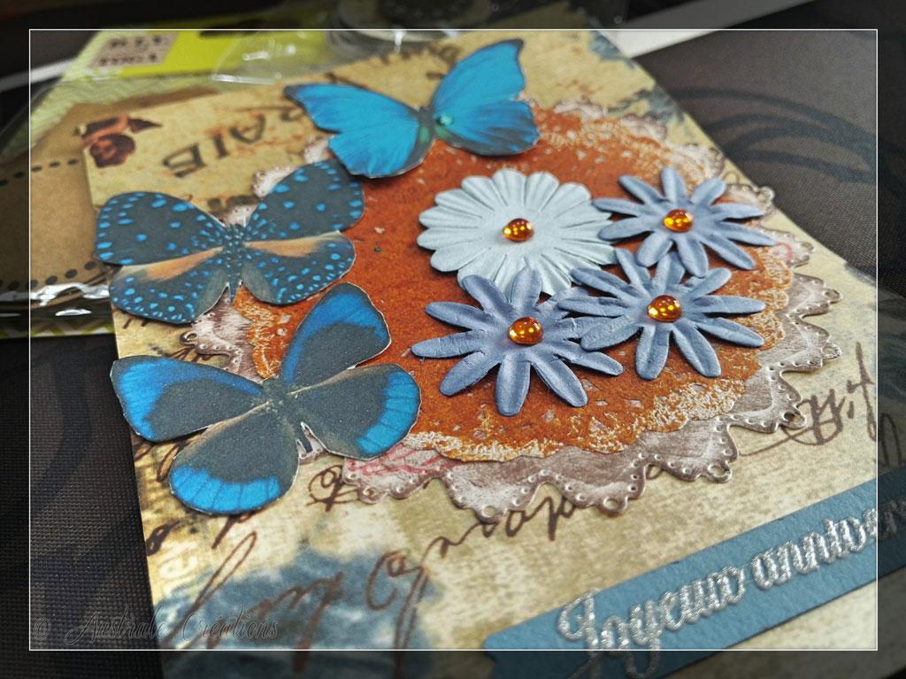 Carte Papillons Bleus par Cécile