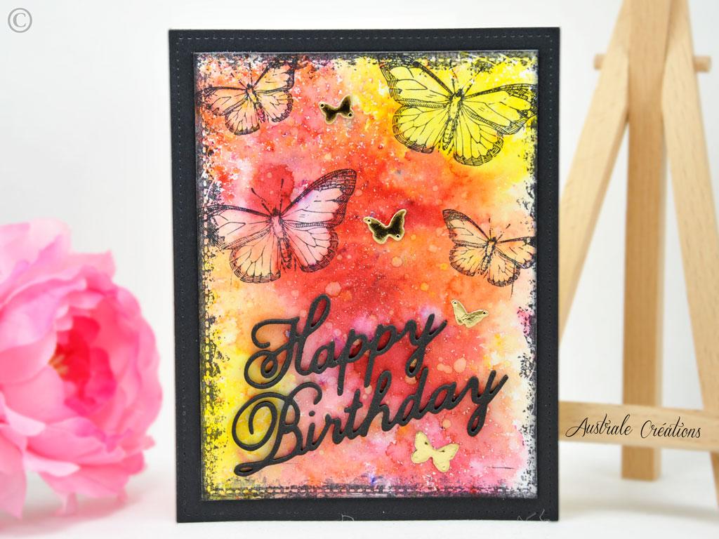 Carte Butterfly Grunge