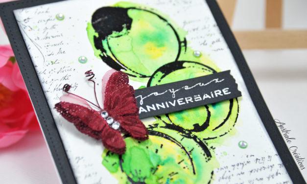 Carte : Purple Butterfly