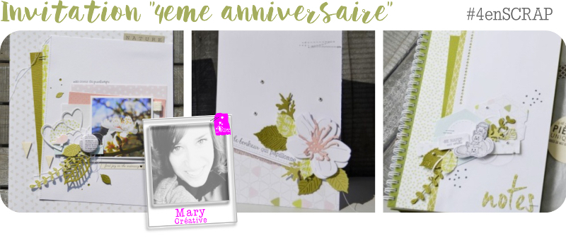 Invitation à créer 4enscrap Mary