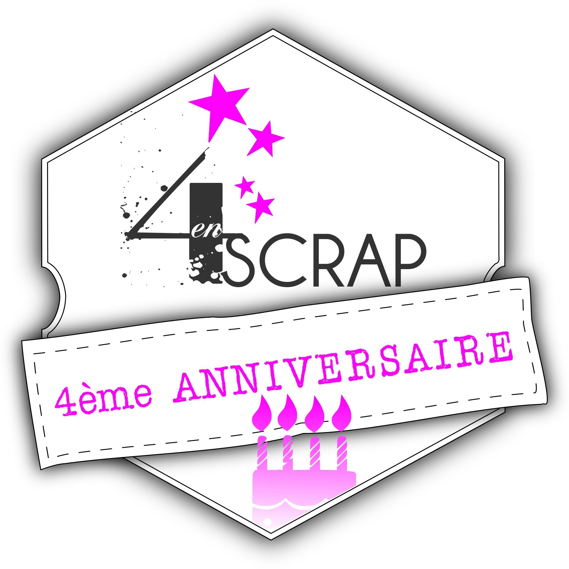 4enscrap 4eme anniversaire logo