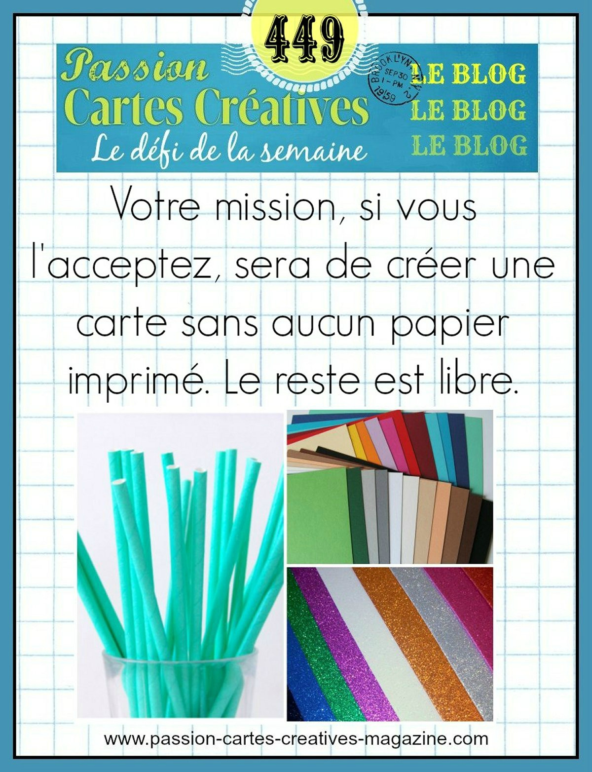 Defi 449 Passion carte creatives