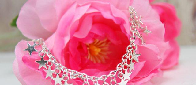 Bracelet : Anklet Silver Stars