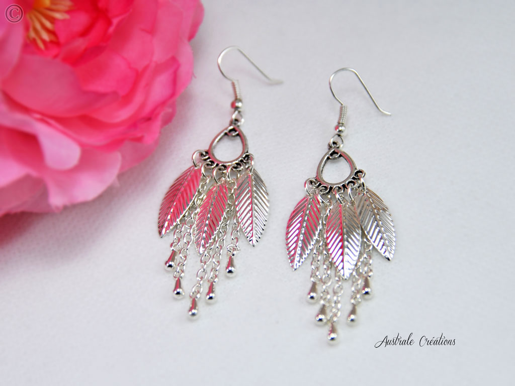 Boucles d'Oreilles Feather Catcher