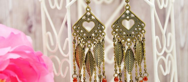 Boucles d'Oreilles « Smoky Feather »