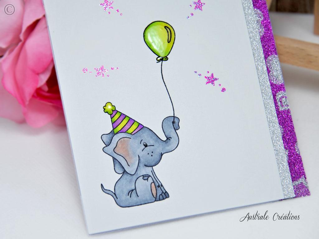 Carte Elephant Party