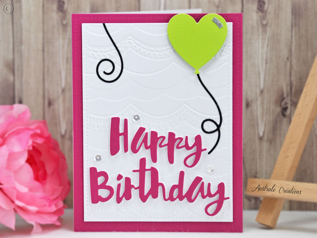 Carte Painted Happy Birthday