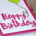 Carte Painted Happy Birthday