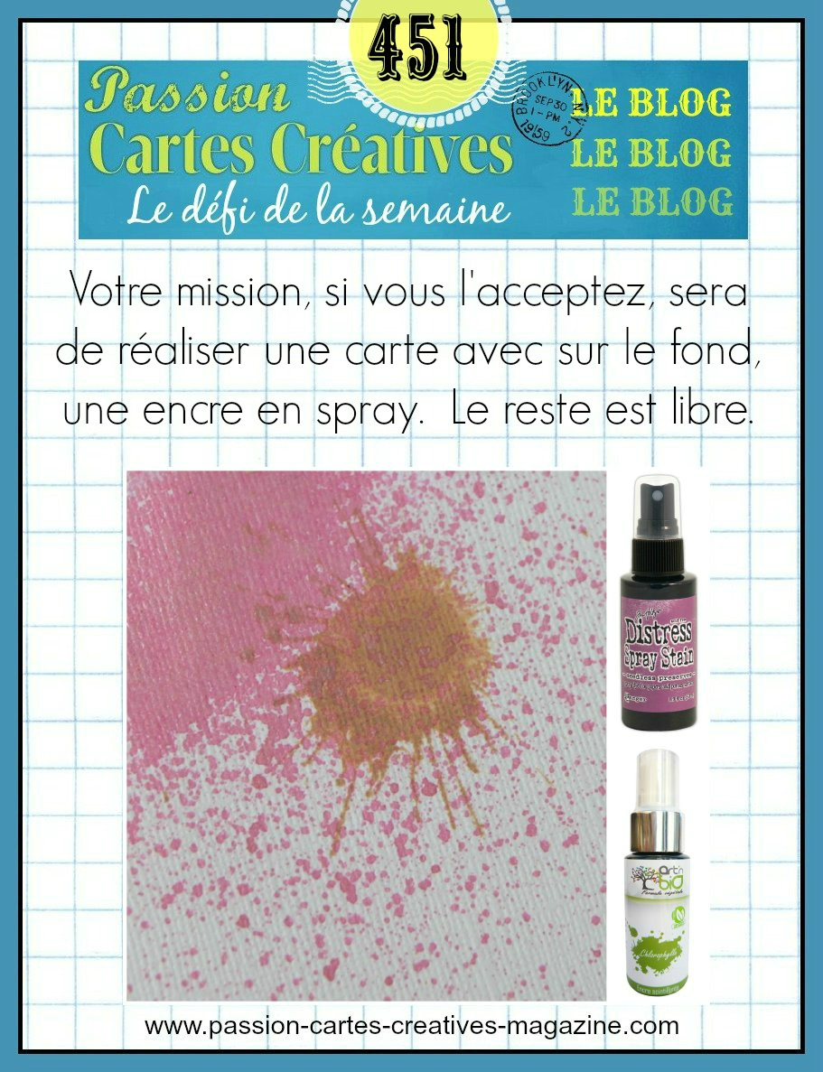 Defi 451 Passion carte creatives