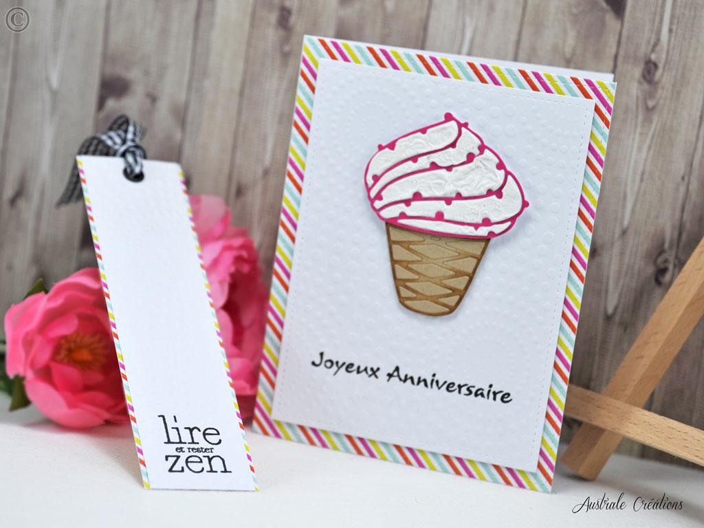 Carte et Marque-Page Sending Cupcake